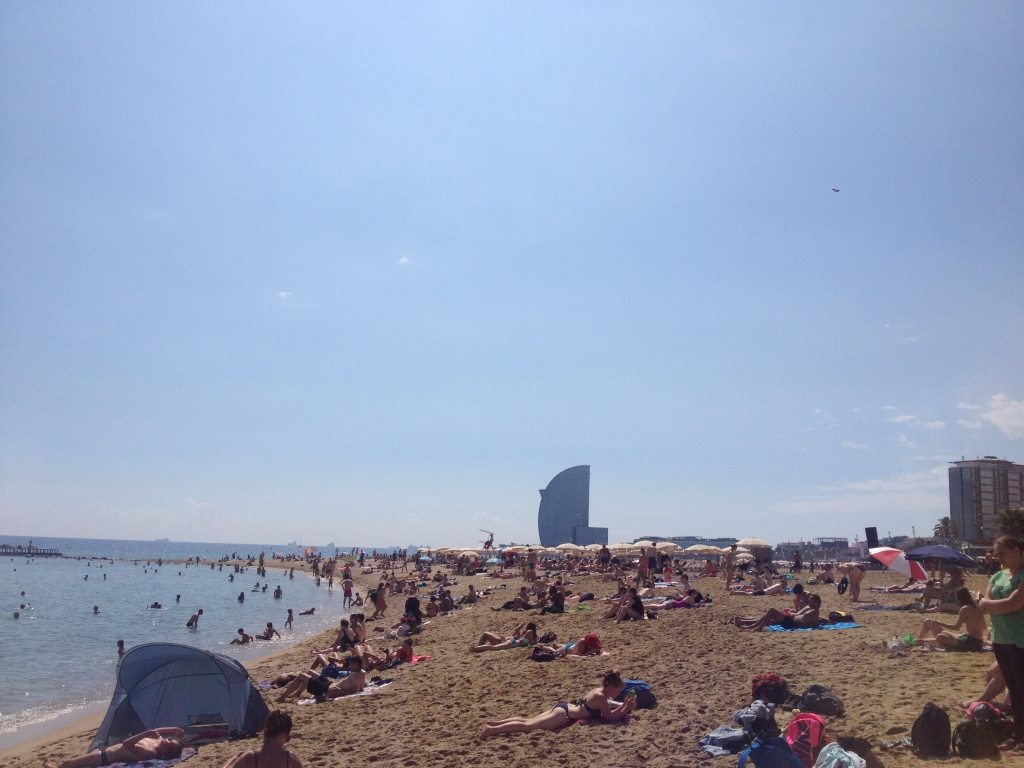 La playa en Barceloneta